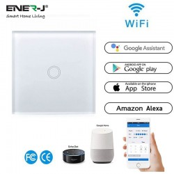 ENER-J Wifi Smart 1 Gang Touch Glass Switch
