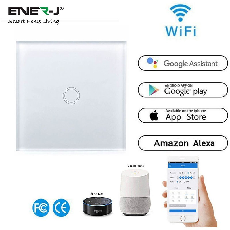 Ener J Wifi Smart 1 Gang Touch Glass Switch From Secure