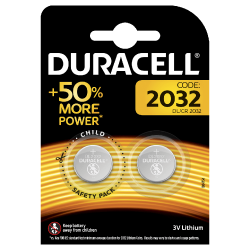 Duracell CR2032 3v Lithium Cell 2 Pack