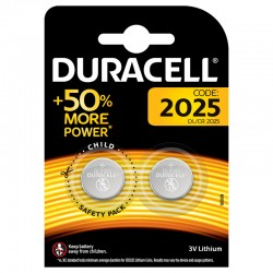 Duracell CR2025 3v Lithium Cell 2 Pack