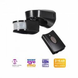 TimeGuard 2300W PIR Light Controller - Black c/w RF Remote Control Key Fob